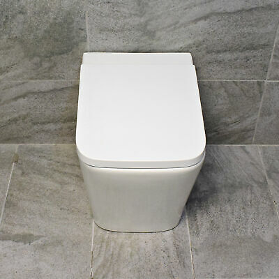 £159.99 • Buy Rose Rimless Back To Wall Toilet WC Compact Comfort Height + Soft Close Seat