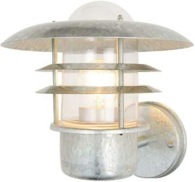Galvanised Stainless Steel Lantern Outdoor Wall Light Garden Or Porch IP44 Rated • 19.98£
