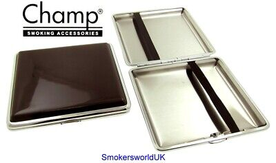 Cigarette Case -- Champ Shiny Brown 20 King Size -- NEW Chks11 • 6.49£