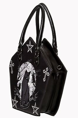 £39.99 • Buy Women's Gothic Emo Punk Rockabilly Hecate Pentagram Kitty Cat Bag BANNED Apparel