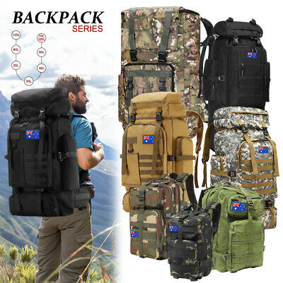AU36.99 • Buy 30L/40L/80L Hiking Military Tactical Backpack Rucksack Bag Camping Outdoor