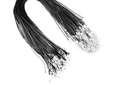 £2.25 • Buy Black 2mm Necklace Waxed Cord String With Lobster Clasp 20inches