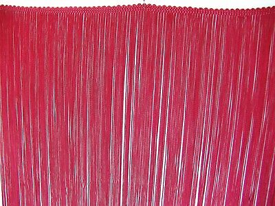 £5.76 • Buy BTY ~ 23  LONG Soft Rayon Dark Red Chainette Fringe Trim ~ Great For COSTUMES
