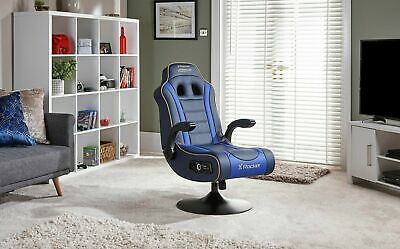 £99.99 • Buy Used X-Rocker Adrenaline VII Gaming Chair-Blue-PS4,PS5 & Xbox One -GB65.