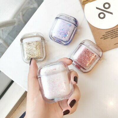 $ CDN7.02 • Buy Sparkle Quicksand Earphone Protective Hard Case Cover For Apple AirPods 1st 2nd