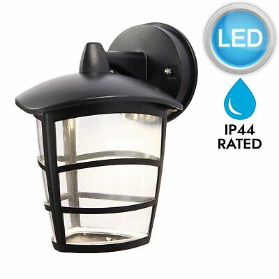 Modern Black LED Outdoor IP44 Rated Porch Garden Wall Light Lantern • 11.99£