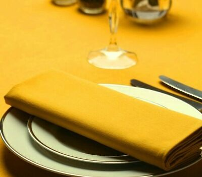 £0.99 • Buy GOLD COTTON FEEL POLYESTER CATERING RESTAURANT QUALITY NAPKINS SIZE 20x20