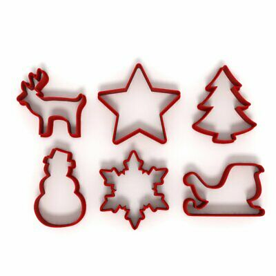 £5.99 • Buy Festive Christmas Set Of 6 Cookie/Fondant Cutters Biscuit Dough Icing Cake UK 4