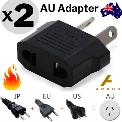 AU4.95 • Buy 2x Europe EU / Japan JP / US To Australia AU Power Plug Adapter Travel Converter