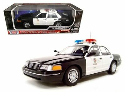 Motor Max 1:18 2001 Ford Crown Victoria Police Interceptor (lapd) 73539 • 30.94$
