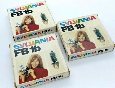3 Boxes Of 10 BULBS FLASH SYLVANIA FB 1b For Old Cameras • 18.94£