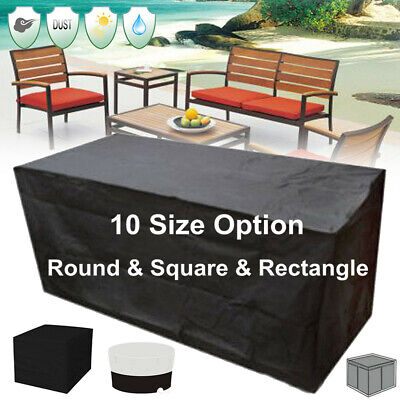 AU25.64 • Buy 10Size Garden Patio Furniture Table Cover Waterproof Rectangular Outdoor