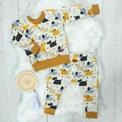 UK Newborn Baby Girl Boy Winter Clothes Cotton Tops T-Shirt Pants Outfits Casual • 4.99£