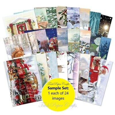 SAMPLE SET 24xA6 Sheets ~ Hunkydory's THE LITTLE BOOK OF FESTIVE FLURRY • 2.99£