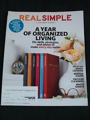 $9.99 • Buy Real Simple ~ January 2013 ~ A Year Of Organized Living,Life Made Easier, Bin HI