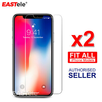 AU3.69 • Buy 2x Tempered Glass Screen Protector EASTele For Apple IPhone 11 Pro XR XS MAX X