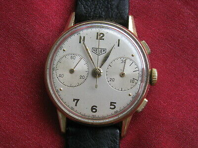 $ CDN2103.35 • Buy Heuer (pre-TAG) Vintage Chronograph Wrist Watch, Valjoux 22, W/Box