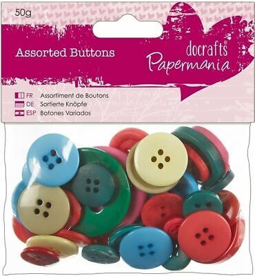 £2.99 • Buy Docrafts Papermania ASSORTED BUTTONS ~ BRIGHTS (50g)