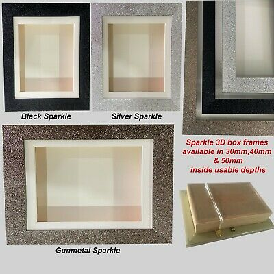 £10 • Buy Sparkle 3D Deep Box Picture Frame Display Memory Medals Memorabilia Flowers