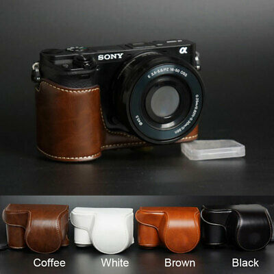 AU17.60 • Buy Leather Camera Protect Case Bag Strap For Sony A6000 A6100 A6300 A6400 16-50