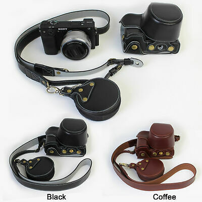 AU56.20 • Buy Genuine Real Leather Camera Bag Case For Sony A6400 A6300 A6100 A6000 16-50mm