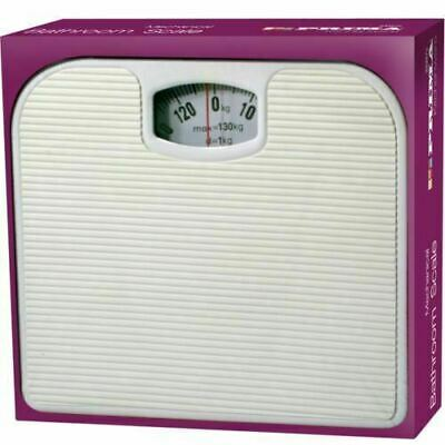 130kg Bathroom Scale Weighing Body Weight Mechanical Home Lose Fat Dial White • 6.99£
