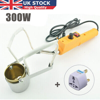 300W Electric Lead Melting Pot Solder Furnace Casting Heads Tin Adjustable Temp. • 14.99£