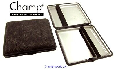 Cigarette Case -- Champ Canvas Charcoal 20 King Size -- NEW Chks34 • 6.99£