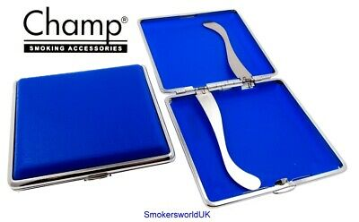 Cigarette Case -- Champ Plastic Blue Crocodile Print 20 King Size -- NEW Chks37 • 4.49£
