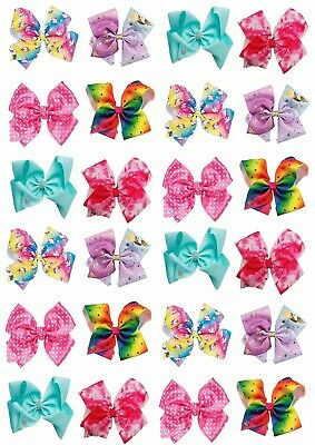 AU8.95 • Buy 24 X JOJO SIWA BOWS Cupcake Wafer Rice Paper EDIBLE Cake Topper Bow Decorations