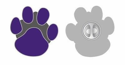 Animals In War Purple Dogs Paw Enamel Lapel Badge Brooch Poppy Day Brand New • 4.29£