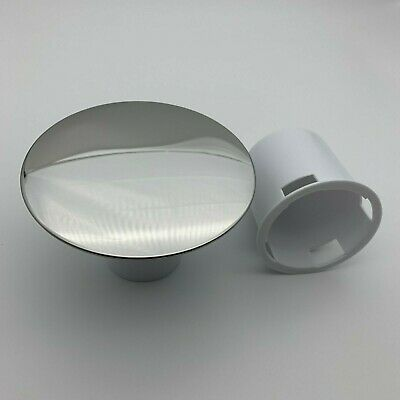 Replacement 115mm Chrome Shower Tray Drain-Waste Cover & Optional White Parts • 9.95£