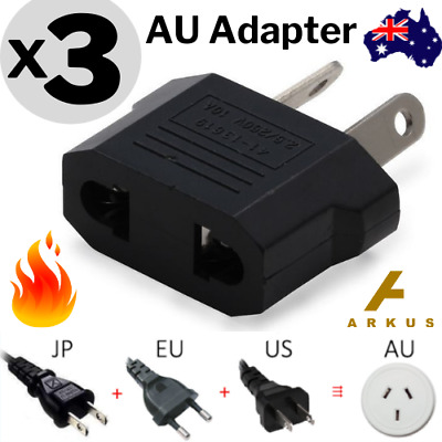 AU5.95 • Buy 3x Europe EU / Japan JP / US To Australia AU Power Plug Adapter Travel Converter