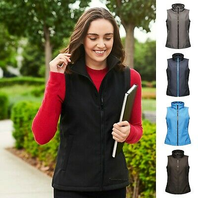 £24.49 • Buy Womens Softshell Jacket Water Repellent Fitted Light Soft Shell Bodywarmer Gilet