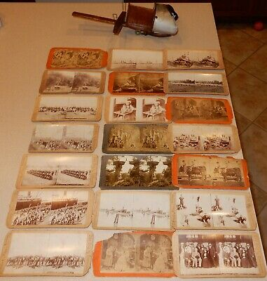 £77.09 • Buy Antique Keystone Stereoscope Viewer & With Photo Card Lot READ