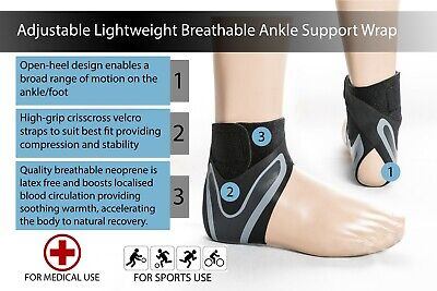 Adjustable Breathable Ankle Support Lightweight Brace Ankle Support For Sports A • 4.49£