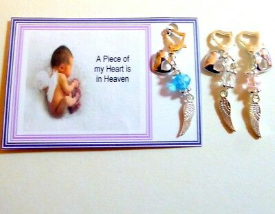 £4.95 • Buy Baby Loss Remembrance A Piece Of My Heart Is In Heaven Memorial Charm Gift