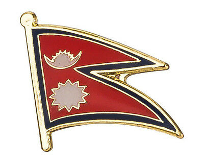 Nepal - Flag Lapel Pin Badge  High Quality Gloss Enamel  • 2.69£