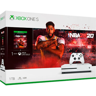 $299 • Buy Microsoft Xbox One S Bundle: 1 TB Console With NBA 2K20 And Wireless Controller