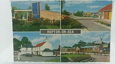 Postcard Hopton On Sea Constitutional, Seafields & Ponderosa Holiday Camps 1970s • 13.75£