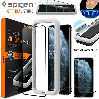 AU29.99 • Buy FREE EXPRESS IPhone 11 Pro XS X Screen Protector, Spigen Full Cover AlignMaster