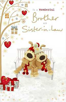 Boofle Brother & Sister-In-Law Christmas Greeting Card Cute Xmas Cards • 4.99£