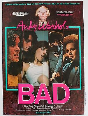 $150 • Buy Andy Warhol Bad 1976 Original German Movie Poster  Rare