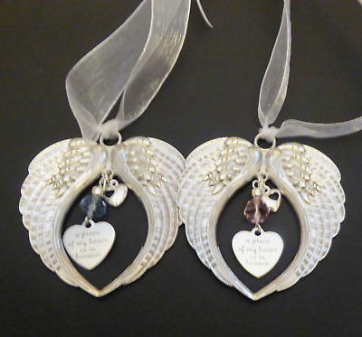 Guardian Angel Wing Platinum Memorial Gift A Piece Of My Heart Is In Heaven • 9.35£