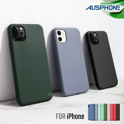 AU8.95 • Buy Shockproof Liquid Silicone Thin Cover Soft Slim Case For IPhone 11 Pro XS MAX XR