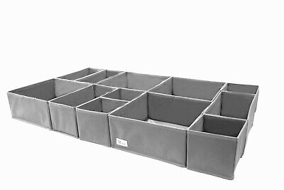 £12.99 • Buy 12 Piece Periea Drawer Organiser Boxes Make Up Socks Underwear Desk Clothes Ties