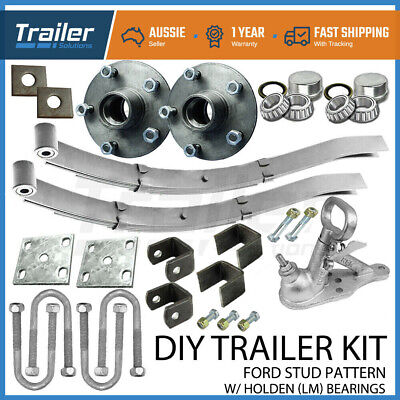 AU244.33 • Buy DIY SINGLE AXLE TRAILER KIT  Slipper Springs Trailer SG Cast Hubs