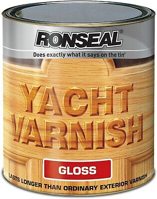 Ronseal Yacht Varnish Gloss Exterior Paint 500ml • 22.95£