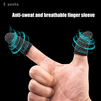 AU2.96 • Buy 2Pcs Finger Sleeve Touch Screen Non-slip Thumb Breathable Sleeve For Mobile Game