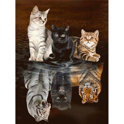 AU16.19 • Buy 5D Animals Diamond Painting Kits Full Drill Art Embroidery Decors Cats DIY Gifts